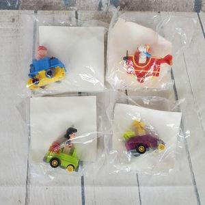 1989 McDonald's Peanuts Racers Set of 4